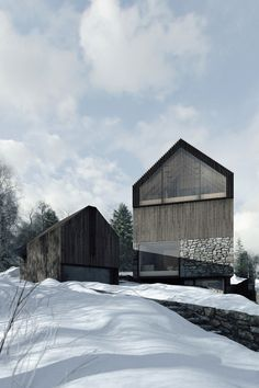 Ärkitekcher — Lodging Houses in Karpacz Wolf Clearing Sustainable Architecture, Amazing Architecture, Architecture Details, Modern Architecture, Modern Shed, Modern Barn, Modern House Design, Contemporary Barn, Shed Homes