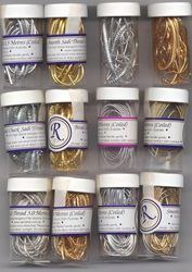 Metallic threads - SILK & ROSES - beautiful hand embroidery kits, Rajmahal products, beads, hoops, goldwork embroidery supplies