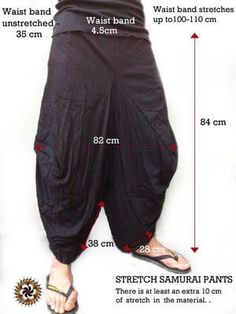 Parachute pants how to Samurai Pants, Modern Kimono, Burning Man Outfits, Cool Outfits, Fashion Outfits, Gq Style, Trouser Pants, Harem Pants Men, Yoga Fashion