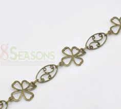 1M Bronze Tone Clover Oval Links-Opened Chain Findings | eBay