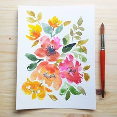 It's Monday. My favorite day of the week. #watercolors #schmincke #watercolorpaper #arches #winsorandnewton #mijellomission #mijello #paintingforsale #lovepaint #instapaint #watercolorart #watercolorist #zbesties #loosewatercolor #loosewatercolors #looseflorals #floralwatercolor #pink #peonies #tulips #painteveryday #indian #blooms #morningpractice #atlantaartist #atlantawatercolor #johnscreek #alpharetta #atlanta