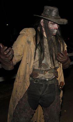 - by Jim Olson Makeup Designs, Makeup Ideas, Horror Costume, Halloween Makeup, Creepy, Costumes, Gun, Painting, Facepaint Ideas