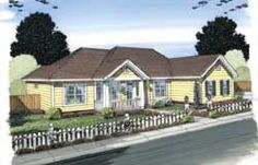 This lovely Ranch style home with Traditional influences (House Plan has 1452 square feet of living space. The 1 story floor plan has 3 bedrooms. House Plans 3 Bedroom, Ranch House Plans, House Floor Plans, Architectural Design House Plans, Architecture Design, Small Hallways, Monster House Plans, Traditional House Plans, House On The Rock