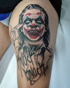 33 Cool Joker Tattoos That You Will Love - Cool Forearm Tattoos, Leg Tattoo Men, Bad Tattoos, Line Tattoos, Future Tattoos, Get A Tattoo, Body Art Tattoos, Tattoos For Guys, Cool Tattoos