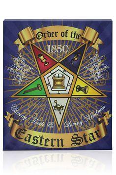 Order of the Eastern Star Canvas Wall Hanging Masonic Art, Masonic Symbols, Freemason Symbol, Bright Morning Star, Eastern Star, Famous Stars, Freemasonry, Knights Templar, Poster