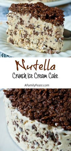 Crunch Ice Cream Cake Nutella Crunch Ice Cream Cake - A Family Feast Just 3 ingredients - perfect dessert for a crowd!Nutella Crunch Ice Cream Cake - A Family Feast Just 3 ingredients - perfect dessert for a crowd! Ice Cream Treats, Ice Cream Desserts, Frozen Desserts, Ice Cream Recipes, Ice Cream Cakes, Frozen Treats, Best Ice Cream Cake, Ice Cream Toppings, Desserts For A Crowd