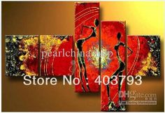 MODERN ABSTRACT HUGE LARGE CANVAS ART OIL PAINTING Fashion happy dancing no stretched