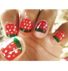#watermelon nail art!  #summer