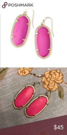 Kendra Scott Elle Magenta Elle earrings. Kendra Scott Jewelry Earrings