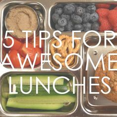Healthy, Simple, Easy Lunch Ideas from @sagespoonfuls