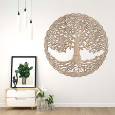 Drevený strom života na stenu - Dub Chandelier, Tapestry, Ceiling Lights, Home Decor, Hanging Tapestry, Candelabra, Tapestries, Decoration Home, Room Decor