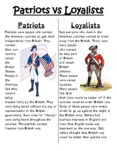 Patriot or Loyalist by Heather's Online Classroom Social Studies Projects, 4th Grade Social Studies, Social Studies Classroom, History Classroom, Teaching Social Studies, History Teachers, Teaching History, Online Classroom, Government Lessons