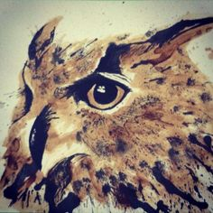 Custom coffee and ink painting by DarcieDrawing on Etsy, $250.00