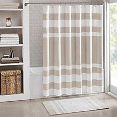 image of Madison Park Spa Waffle Shower Curtain