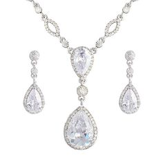 Stunning Zircon Bridal Necklace Set ****Sparkly beauty