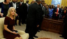 TRUMP'S ADVISER KELLYANNE CONWAY'S PHOTO MAKING HERSELF TOO COMFORTABLE ON OVAL OFFICE SOFA SPARKS OUTRAGE