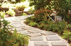 DIY garden projects anyone can make for home gardening. Great list of must haves for a small and big garden, backyard, patio and outdoor space. Diy Garden Projects, Outdoor Projects, Design Projects, Design Ideas, Paver Path, Diy Paver, Paving Diy, Paver Sidewalk, Sidewalk Ideas