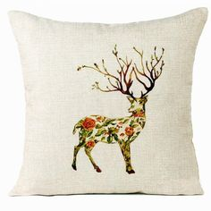 New Qualified Cushion Cover Decorative Xmas Christmas Elk Sofa Bed Home Decoration Festival Pillow Case Cushion Cover dig61026-in Cushion Cover from Home & Garden on Aliexpress.com | Alibaba Group