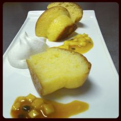 Tropical infused baba with tropical fruit salad and vanilla Chantilly  by Fabio Bardi