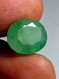 7.5 Cts Natural Emerald Brazilian Loose Gemstone Oval shape Ring Size 13X11X8 MM #Unbranded