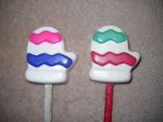 1 Dog Safe Chocolate christmas mitten Gourmet Rawhide treats lollipop Lollipops