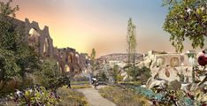 Cappadocia Hotel by Global Architectural Development (GAD) - Parametric Architecture Parametric Architecture, Classical Architecture, Ecology Design, Geothermal Energy, Underground Cities, Walking Paths, Early Christian, Cappadocia, Design Strategy