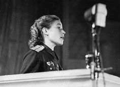 Tank commander, junior lieutenant Alexandra Boiko, speaking to attendees of the Fourth soviet women's anti-fascist meeting on august 20, 1944 at the Tchaikovsky concert hall in Moscow. Pin by Paolo Marzioli