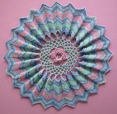 crochet doily - ripple- I love ripples