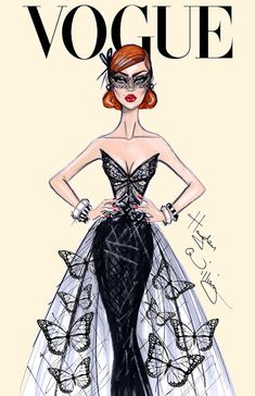 #Hayden Williams Fashion Illustrations #'Butterfly Effect' by Hayden Williams