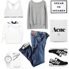Dream on Dreamer by fashionlandscape on Polyvore featuring Mode, rag & bone, Citizens of Humanity, Calvin Klein Underwear and Free People