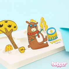 Funny Forest Party Pop-Up Card
