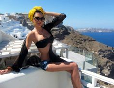 the amazing Jetset Babe still on vacation in Apanema Santorini :)