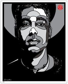 "DAVID FLORES ART- Adam ""MCA"" Yauch Commemorative print (Grey) $100.00 Adam ""MCA"" Yauch Commemorative print  Ltd. 1/50 16x20 Signed and numbered giclee print by the artist.  Originally painted by David P. Flores at the site of the Beastie Boys G-Son studio in memorial to the late Adam Yauch for Delta Bravo Exploration Team  as Site No. 001 RIP MCA (1964-2012) mural.  Located at Atwater Village Farm in Atwater Village, Calif"