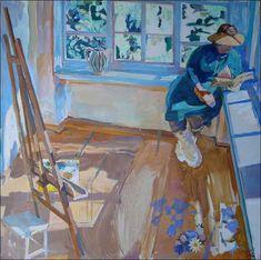 Portraits, Woman Reading, Sculpture, Illustration Art, Illustrations, Artist Art, Folk Art, Literature, Reading Books