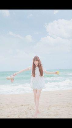 Pretty girl on beach not my pic but still beautiful