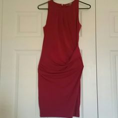 MICHAEL Michael Kors maroon dress MICHAEL Michael Kors maroon dress gathering the hip area great for a cocktail wedding work with blazer beautiful dress MICHAEL Michael Kors Dresses