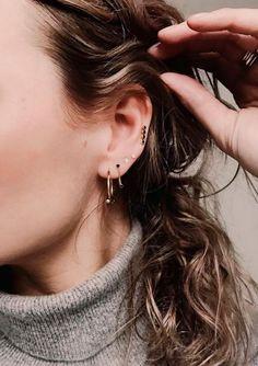 Piercings d'oreilles / jewerly / bijoux / boucle d'oreilles / idées piercing