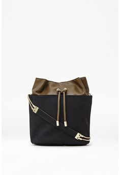Naomi Suede Chain Bucket Bag