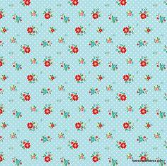 The Simple Life Floral on Aqua by Tasha Noel for Riley Blake Designs C3022-Aqua Half Yard