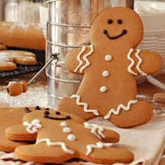 Gingerbread Men - A very yummy recipe for gingerbread men with a quick and easy icing.
