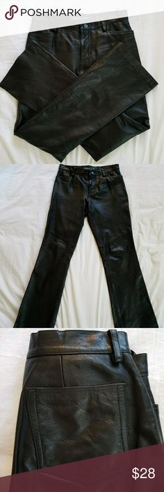 Gap Leather Pants Genuine leather in excellent condition! Bootcut with an approx 30 inch inseam. Gap Pants Boot Cut & Flare