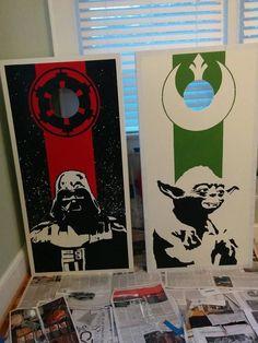 DIY Star Wars Cornhole Boards