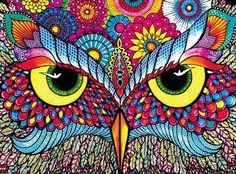 Vivid: Owl Eyes (1000 Piece Puzzle by Buffalo Games)