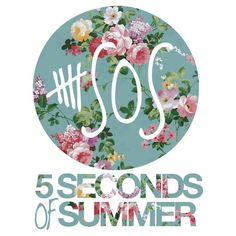 5 Seconds Of Summer logo floral logo Ashton Iwin, Calum Hood, Michael Clifford, Luke Hemmings  LOVE THIS!