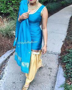 Punjabi suit. Absolutely love the colour combination