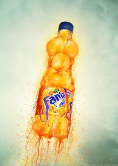 Fresh Fanta by Reawake on DeviantArt Ad Design, Banner Design, Coca Cola, Deviantart, Fresh, Drawings, Artwork, Movie Posters, Painting