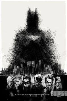 The Dark Knight Rises // One of the coolest posters at San Diego Comic-Con 2012. Comic book artist Jock created it as a limited edition print for collectible company Mondo.