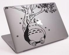 "Totoro Under the Tree Laptop Notebook Macbook  Decal 11"" 13"" 15"" 17"" (DM-0245) on Etsy, $8.99"