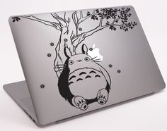 "Totoro Under the Tree Laptop Notebook Macbook  Decal 11"" 13"" 15"" 17"" (DM-0245) on Etsy, $8.99"