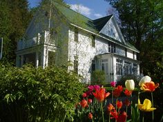 Spring flowers at The White Gull Inn - Fish Creek, Wisconsin